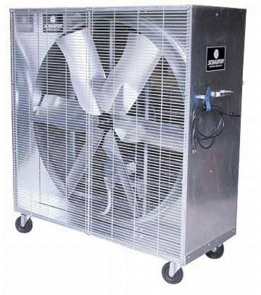 "48"" Schaefer Mobile Misting Box Fan 1 2 20679 CFM 1 HP 115 Volt"