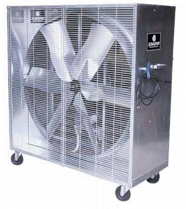 """48"""" Schaefer Mobile Misting Box Fan 1 2 20679 CFM 1 HP 115 Volt"""