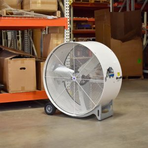 "Schaefer Fab 42"" High Capacity Belt Driven Drum Fan"
