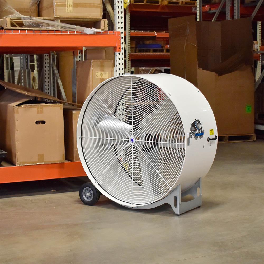 """Schaefer Fab 42"""" High Capacity Belt Driven Drum Fan"""