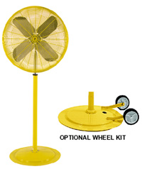 Industrial Yellow Misting Fan