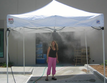 Low Pressure Misting Tent