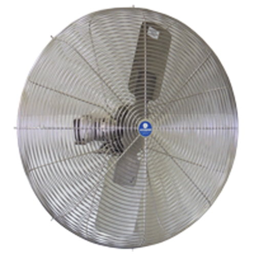 """front view of 30"""" SS OSHA Guards, Stainless Steel Blade fan"""