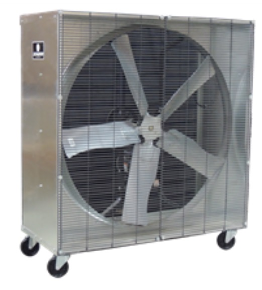 "48"" Mobile Box Fan - stainless steel"