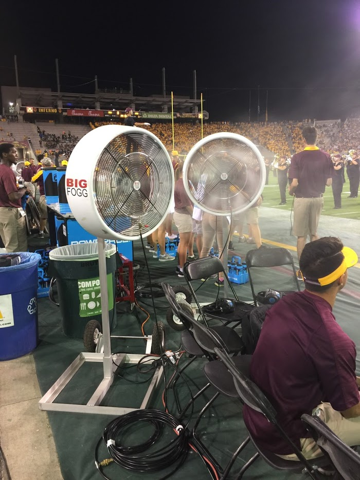 BIG FOGG WILL BE MISTING BOTH SIDELINES FOR 2010 NFL HALL OF FAME GAME