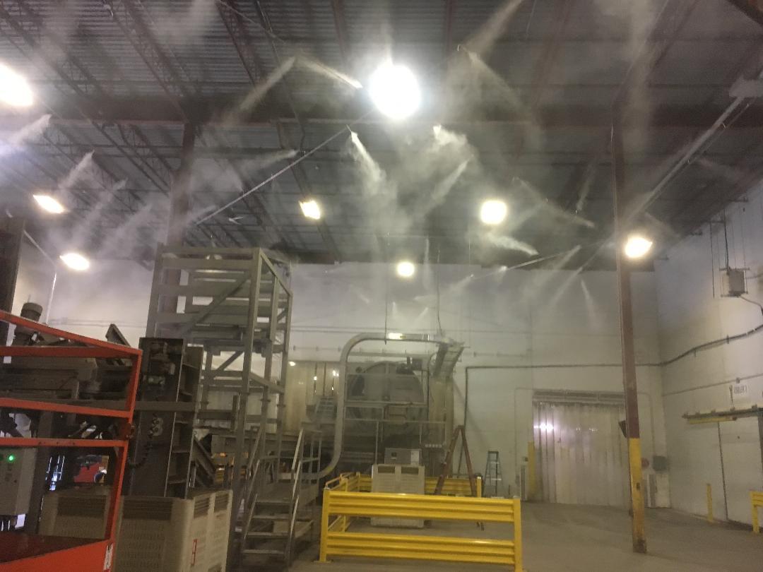 Atomization misting vs. electrostatic misting for disinfecting