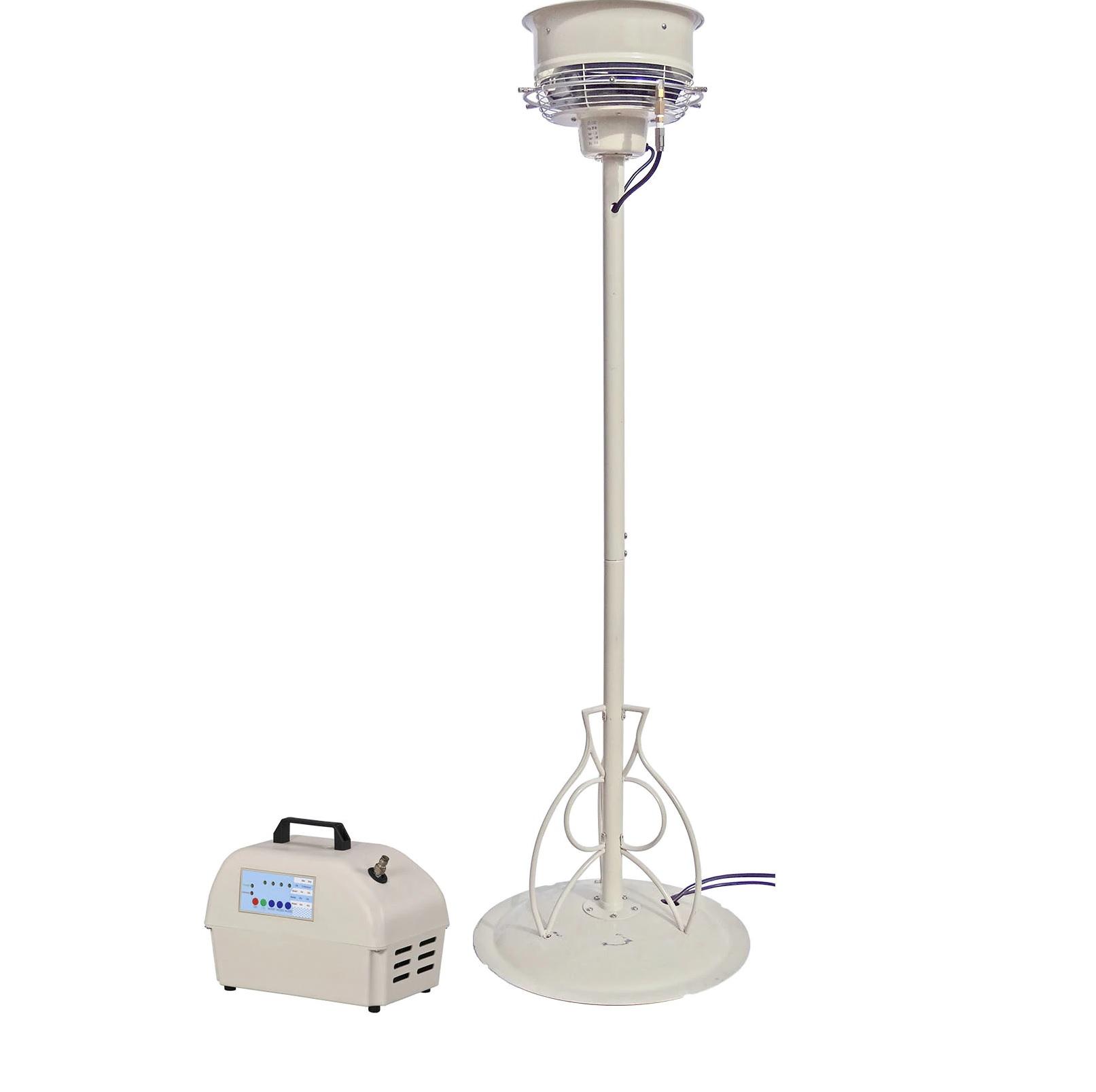 1 Pedestal CentrMist Fan with 15 Nozzle Pump Package White