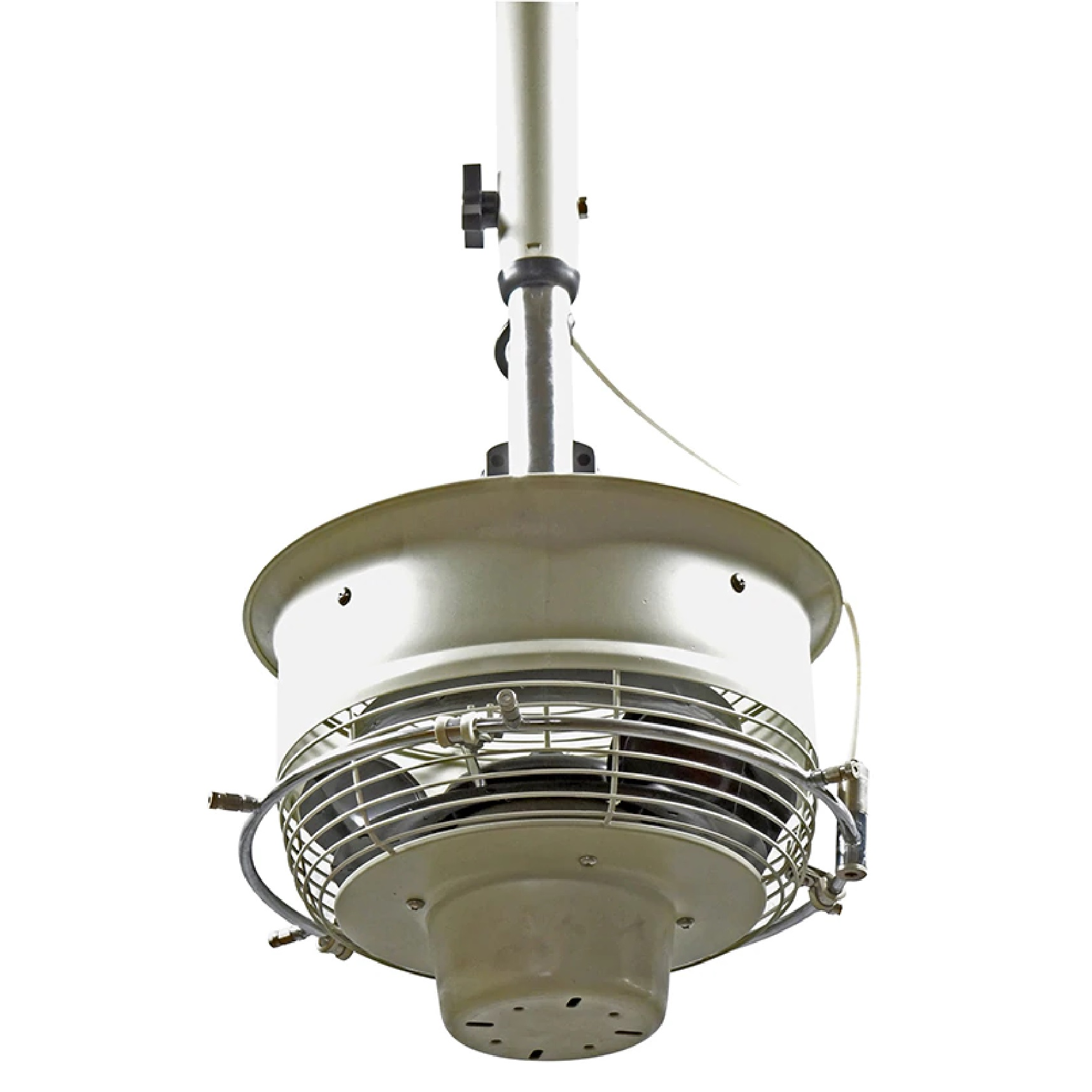 CentraMist Ceiling Mount Centrifugal Misting Fan white color