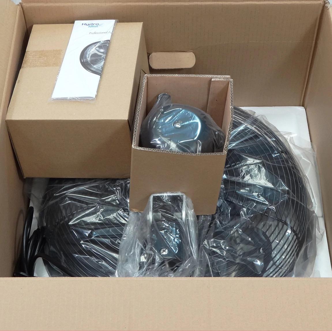 Package of 18 Inch Shrouded Ocscillating Outdoor Indoor Fan-3 Speeds