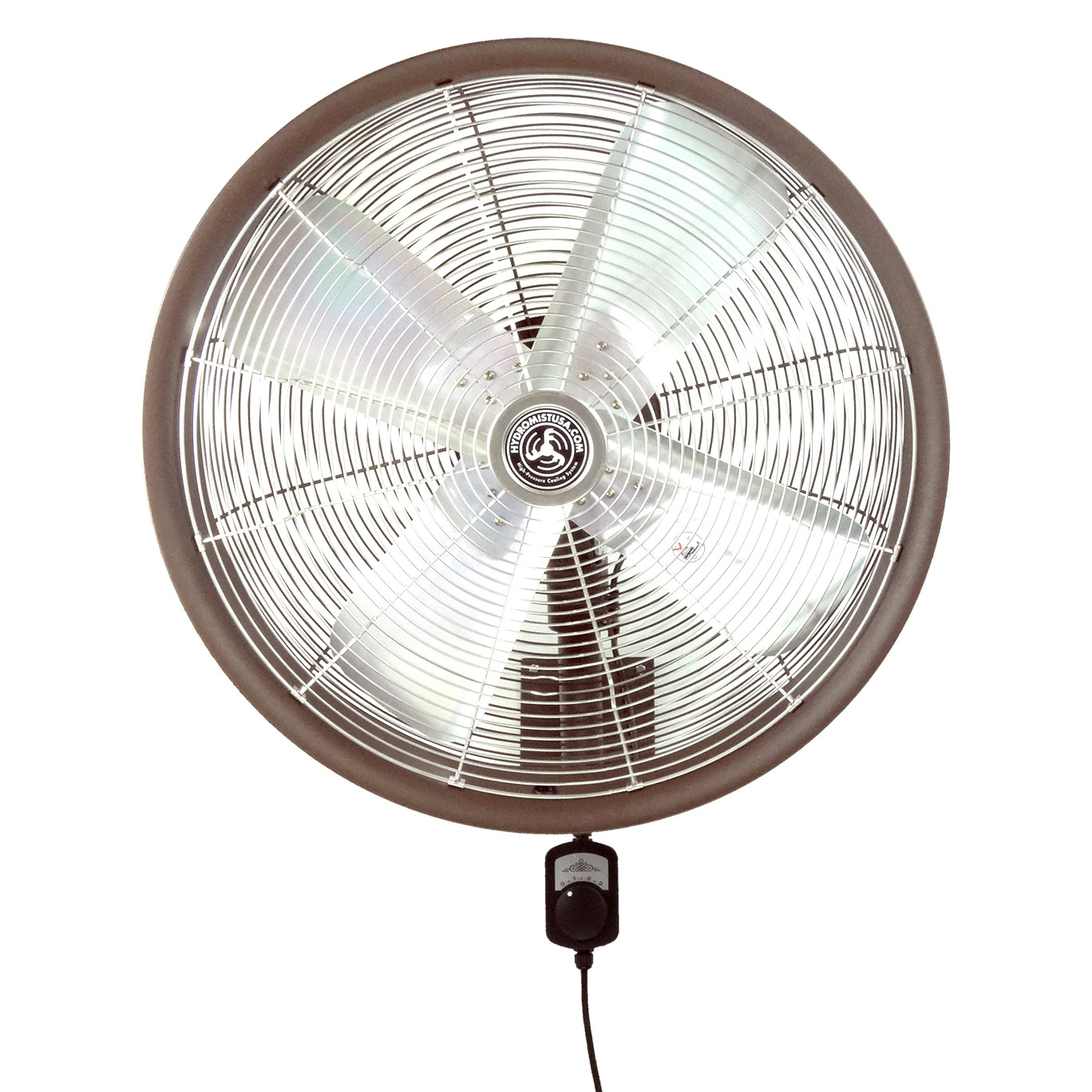 Front view of 24 Inch Shrouded Ocscillating Outdoor Indoor Fan