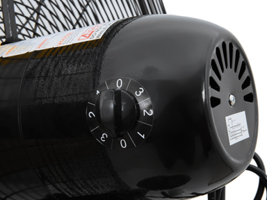 "3 speed motor setting for 30"" Master High Velocity Pedestal Fan"