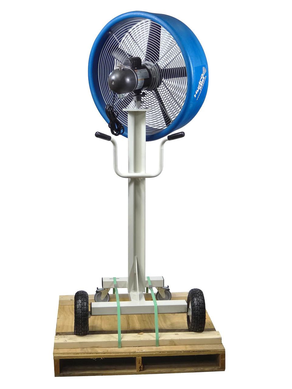 "backside angle of The ""BOSS"" Industrial Outdoor /Indoor 24inch Shrouded Oscillating Floor Fan-2 Speeds"