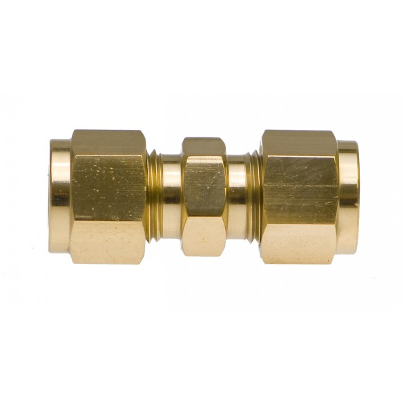 """front view of Brass Union 3/8"""""""