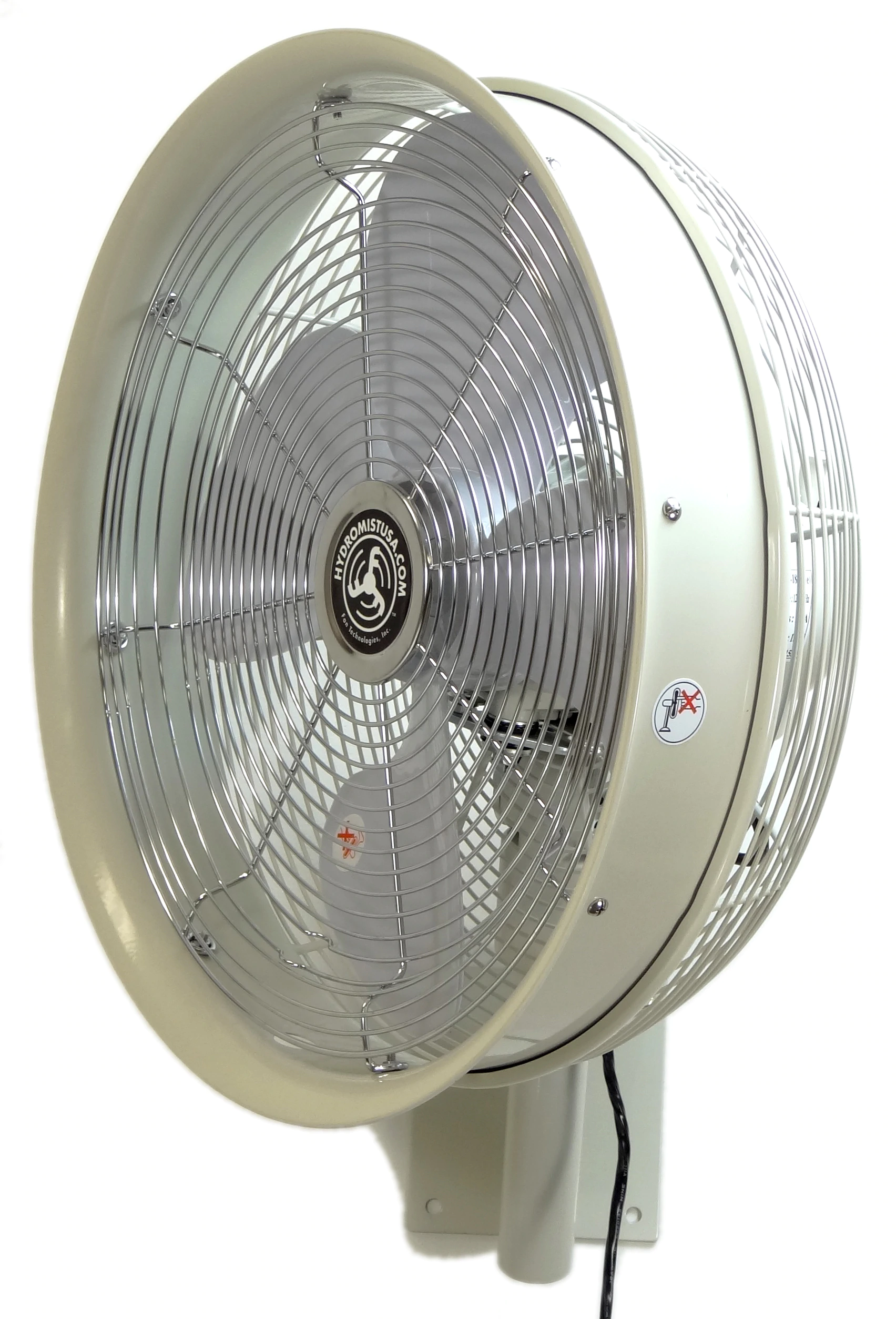 Outdoor 18 Inch Shrouded Oscillating Fan only-3 speed control on cord side view
