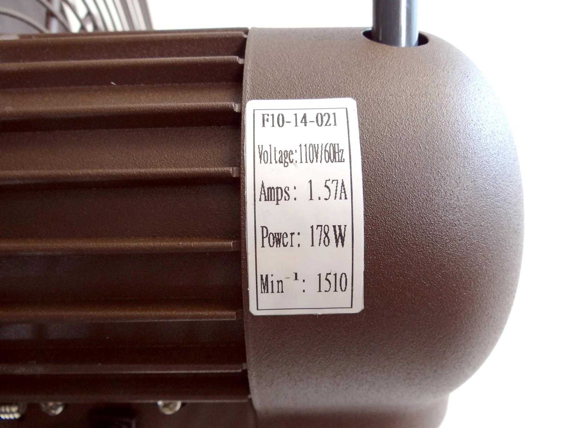 Motor information for Outdoor 18 inch shrouded oscillating fan