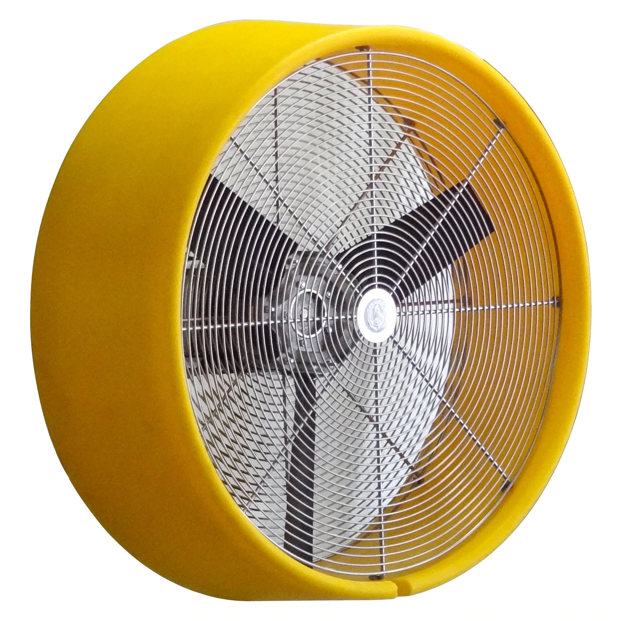 yellow satellite fan with 3 blades