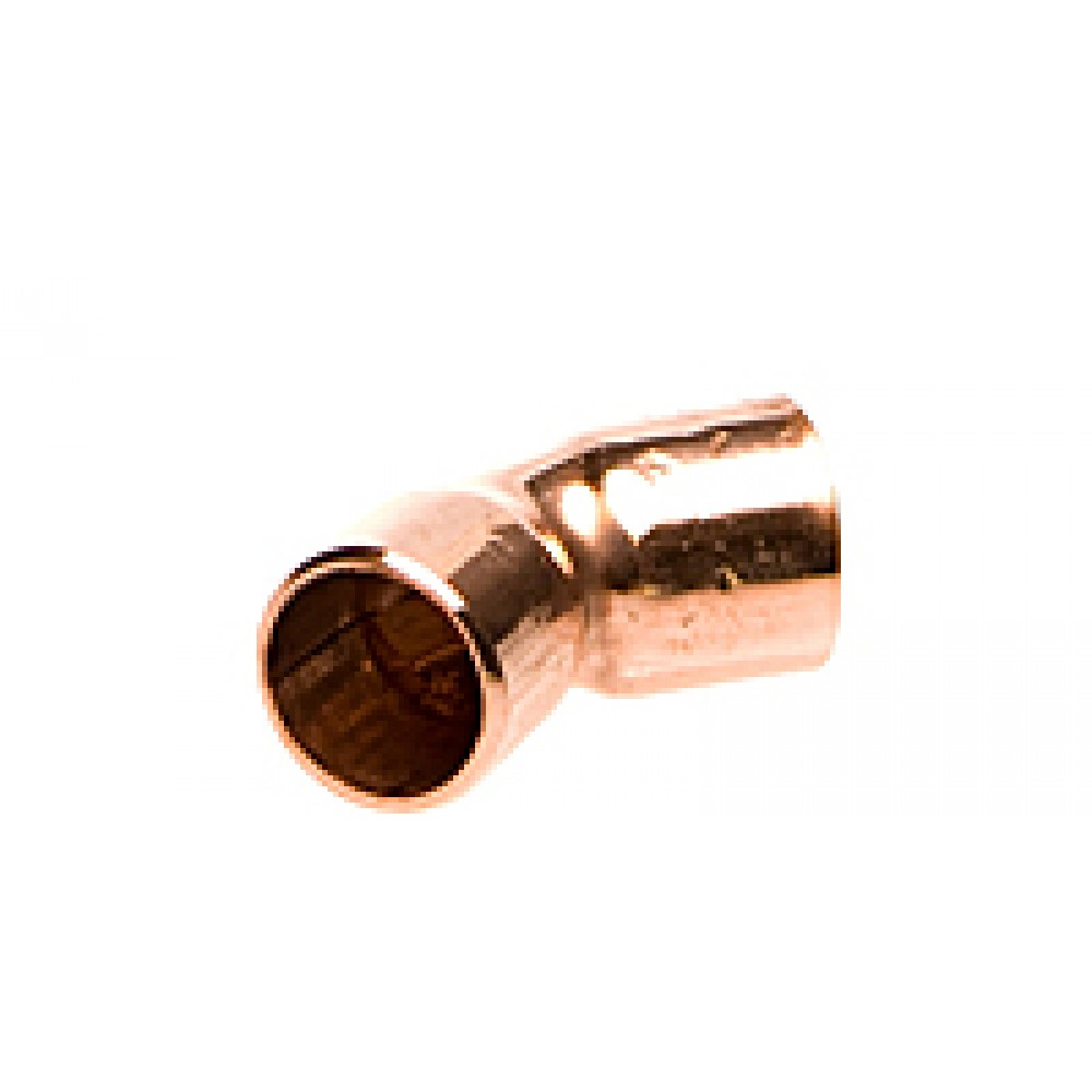 "side view of Copper Elbow 3/8"" 45 Degree"