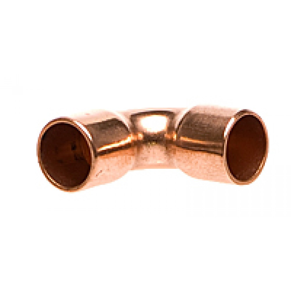 Front view of Copper Elbow 1/4""