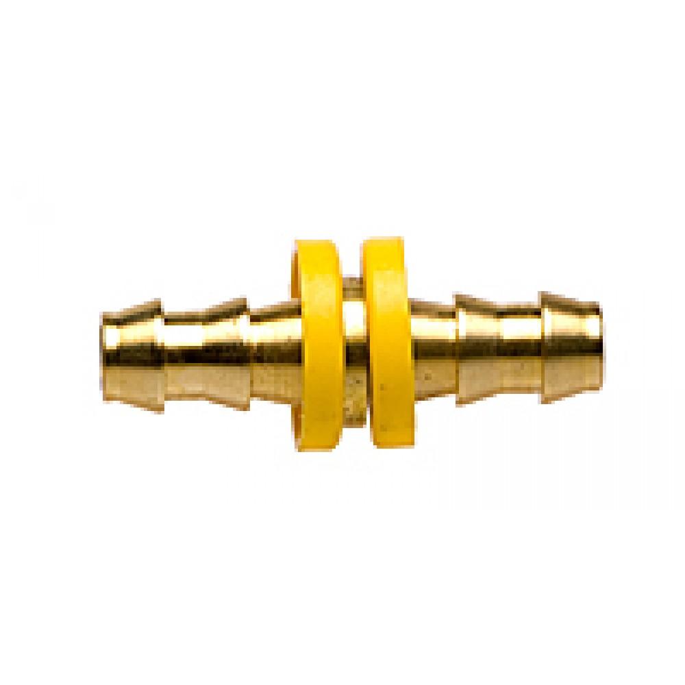 "Side view of Brass Hose Splicer 3/8"" X 3/8"""