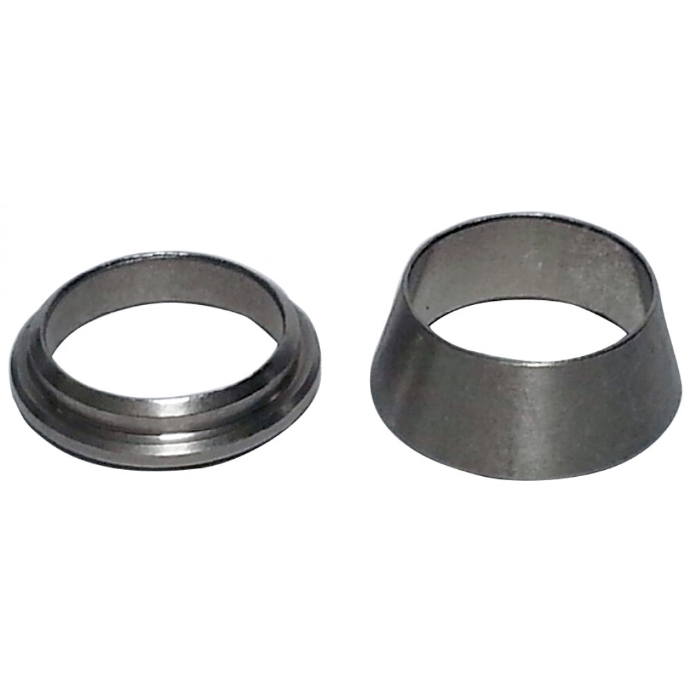 """front view of Replacement Stainless Steel Ferrule set for our 3/8"""""""
