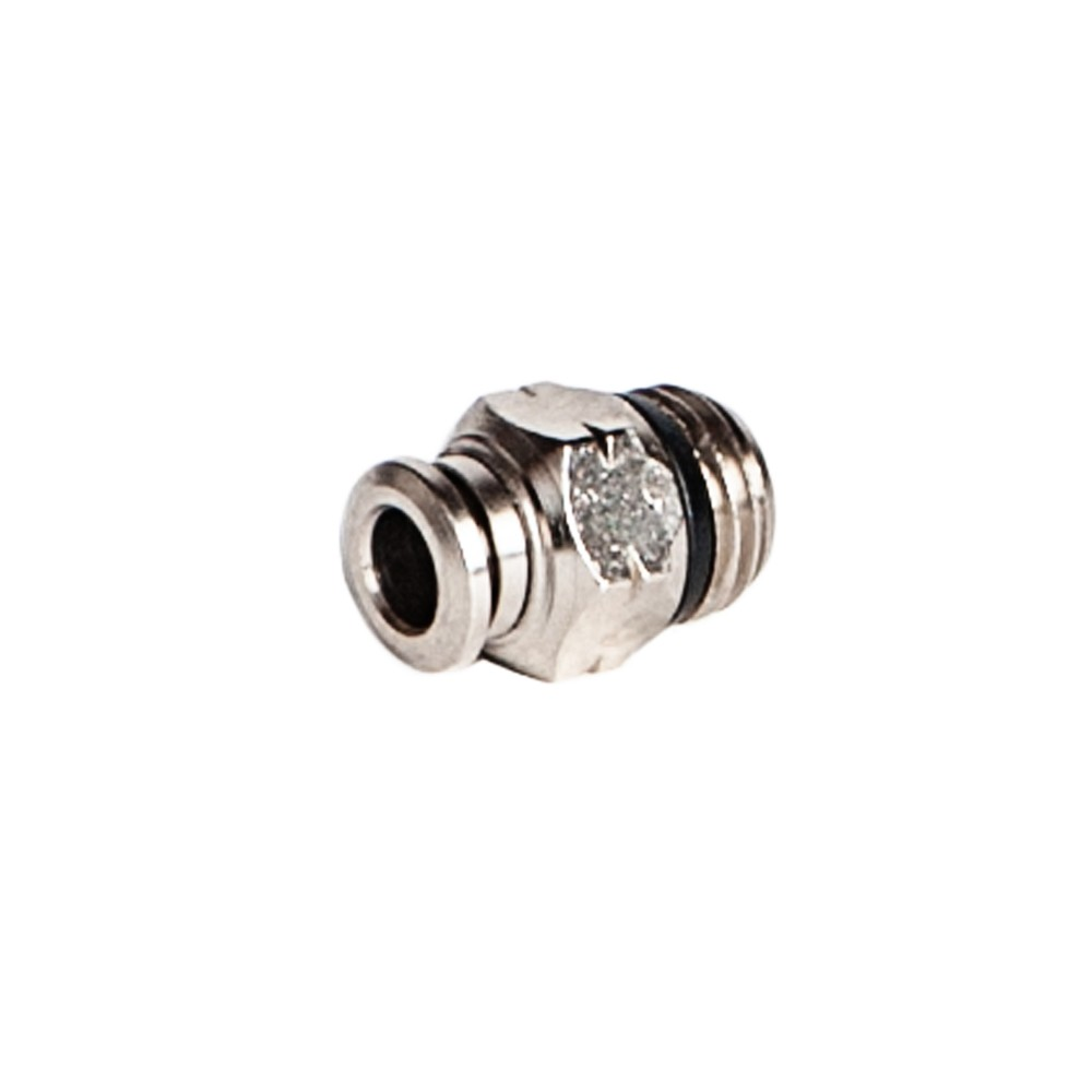 """side view of 1/4"""" x 1/4"""" MNPT Male Connector"""
