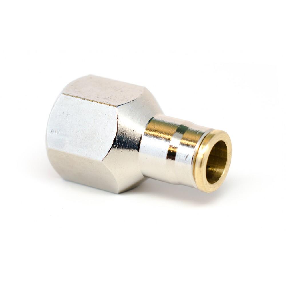 """side view of 3/8"""" Tube x 3/8"""" FNPT Slip Lok Female Adapter"""