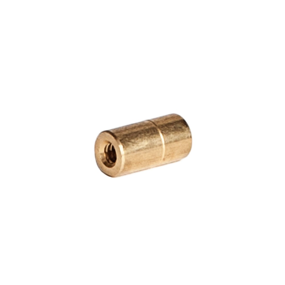 "Side view of Brass Nozzle Bushing 3/8"" OD X 1/4' ID X 10/24"