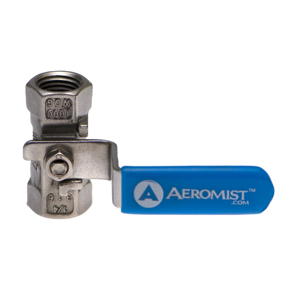"""Front View Compact S.S. Ball Valve 1/4"""""""