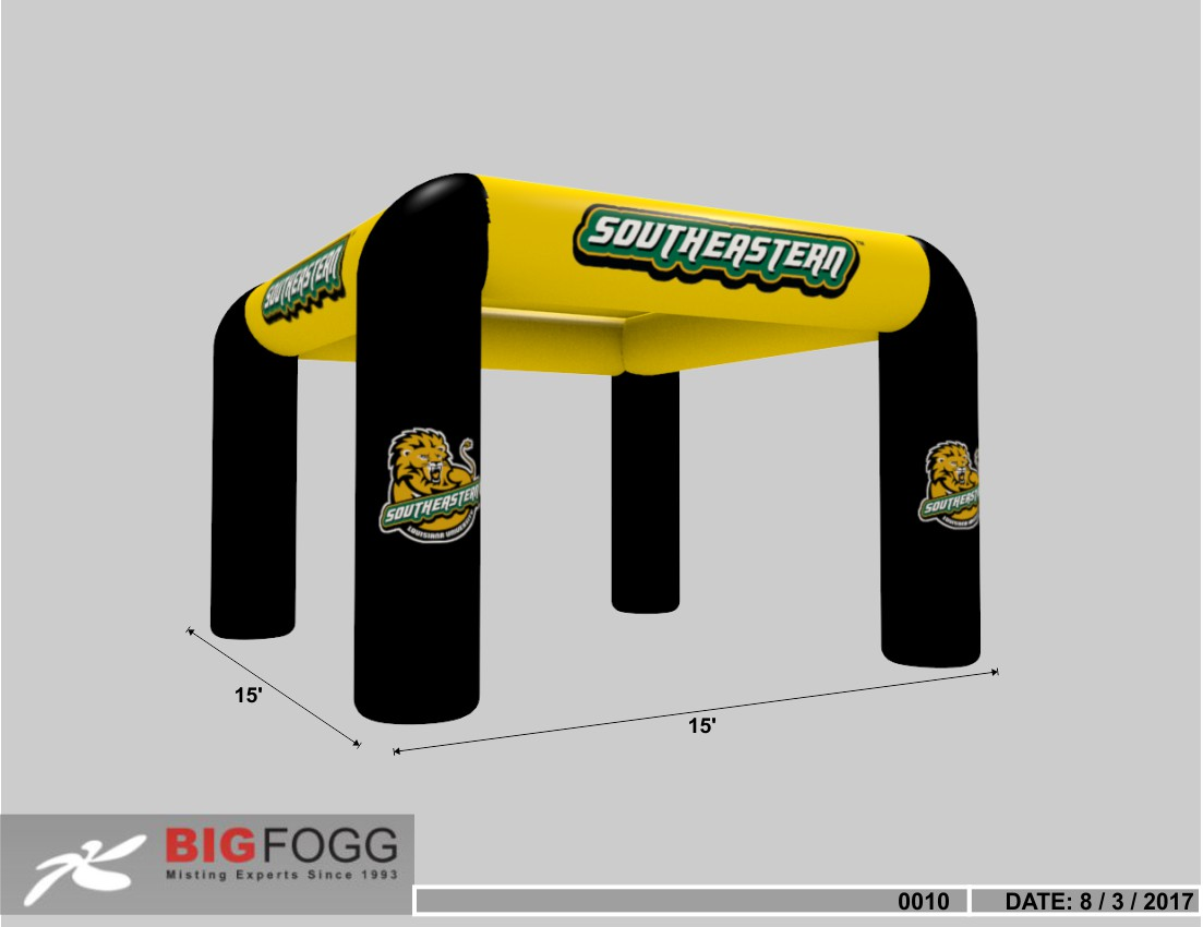 Misting Inflatable 20 x 20 Mid-Pressure